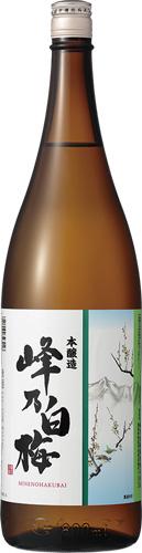 s【送料無料6本入りセット】(新潟)峰乃白梅 本醸造 1800ml 峰の白梅