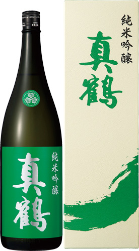 s【送料無料6本セット】 (宮城)真鶴 純米吟醸 1800ml 箱入り