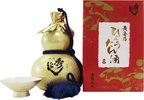 s【送料無料6本セット】 (秋田)秀よし 金瓢 純金入 720ml 本醸造