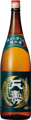 s【送料無料6本セット】 (秋田)天寿 米から育てた純米酒 1800ml
