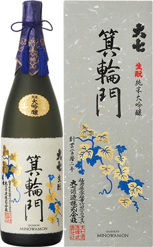 s【送料無料4本入りセット】大七 箕輪門(みのわもん) 生もと純米大吟醸 1800ml