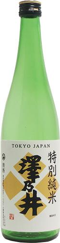 s【送料無料12本セット】(東京)澤乃井 特別純米酒 720ml