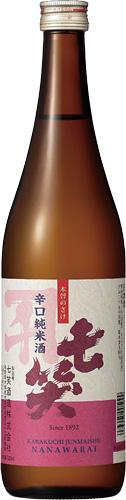 s【送料無料12本セット】(長野)七笑 辛口純米酒 720ml