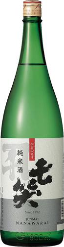 s【送料無料6本入りセット】七笑 純米酒 1800ml