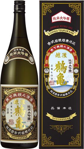 s【送料無料6本入りセット】(新潟)越後鶴亀 純米大吟醸 1800ml