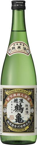 s【送料無料6本セット】(新潟)越後鶴亀 純米酒 720ml