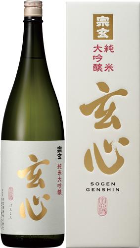 s【送料無料6本セット】(石川)宗玄 玄心 純米大吟醸 1800ml