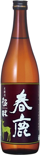 s【送料無料12本セット】(奈良)春鹿 極味 720ml 本醸造