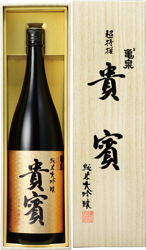 s【送料無料6本セット】(高知)亀泉 貴賓 純米大吟醸 1800ml