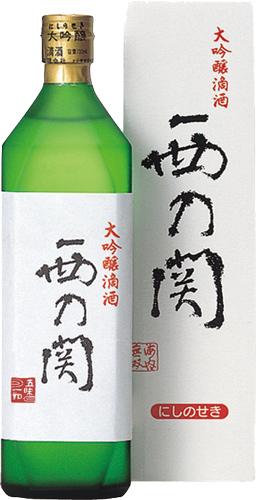 s【送料無料12本セット】(大分)西の関 大吟醸 滴酒(てきしゅ) 720ml
