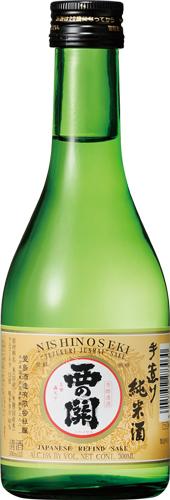 s【送料無料24本セット】(大分)西の関 手造り 純米酒 300ml