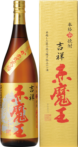 s【送料無料6本入りセット】(宮崎)吉祥 赤魔王 27度 1800ml 芋焼酎
