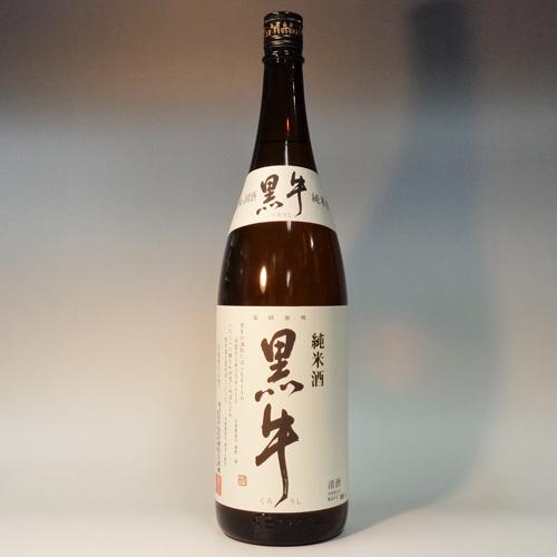 s【送料無料6本入りセット】(和歌山)黒牛 純米酒 1800ml