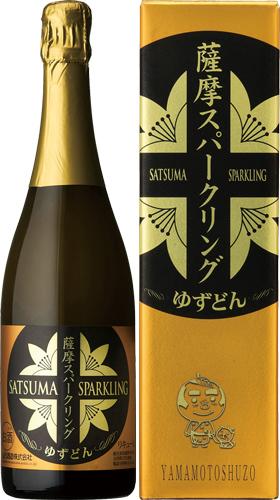 s【送料無料6本セット】(鹿児島)五代 薩摩スパークリングゆずどん 750ml アルコール度数 8度台