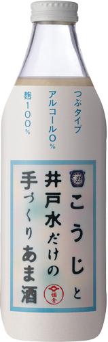 s【送料無料12本セット】(長野)菊秀 こうじと井戸水だけの手づくりあま酒 950g 瓶 びん