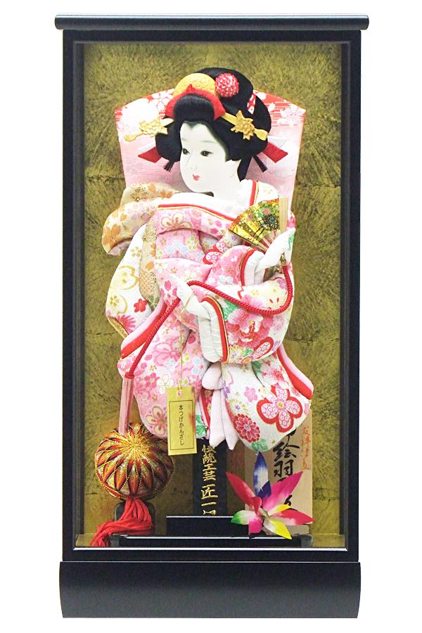 【羽子板】180013 10号 和 友禅振袖押絵羽子板ケース飾【コンパクト】