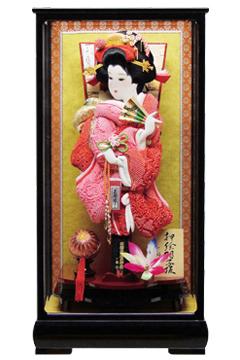 【羽子板】150011 18号【正絹かのこ絞り】羽子板ケース飾