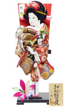 【羽子板】150005 15号 金襴押絵羽子板立台飾