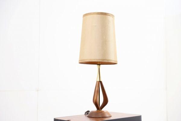 北欧デンマーク製 ウォールナット無垢 テーブルランプ ナイトスタンド 照明 北欧ビンテージ ライト 照明【中古家具/中古インテリア/USED家具ユーズド家具/リサイクル】