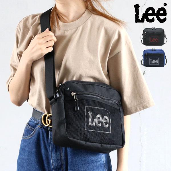 LEE リー ショルダーバッグ メンズ レディース 男女兼用 ユニセックス ミニメッセ メッセンジャーバッグ サコッシュ ポリエステル100% ホワイト/レッド/ネイビー