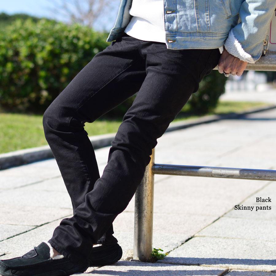 牛仔褲人牛仔褲伸展金雞納霜黑色