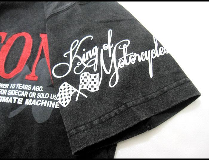 "NORTON MOTORCYCLES诺顿#32N1003~印度材料~""标识刺绣""复古短袖T恤"