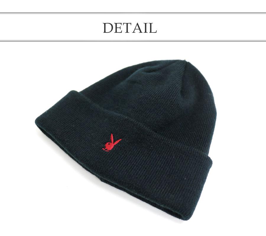 6b957eabed2 プレイボーイニットワッチニットキャップニット hat hat logo cap men gap Dis man and woman combined  use cap CAP hat cap hat men casual Shin pull cap playboy ...