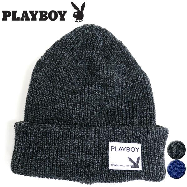f541e558c3aaf Playboy knit hat knit cap knit hat ワッチ hat logo men gap Dis man and woman  combined use cap CAP hat cap hat men s warm cap black playboy