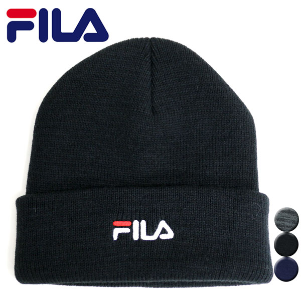 210ce8d251e Fila knit hat knit cap knit hat ワッチ hat logo men gap Dis man and woman  combined use cap CAP hat cap hat men s warm cap logo black luster  reflection night ...