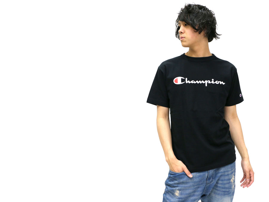 MARUKAWA  Champion T-shirt men champion logo print T-shirt short ... a7b10735b054