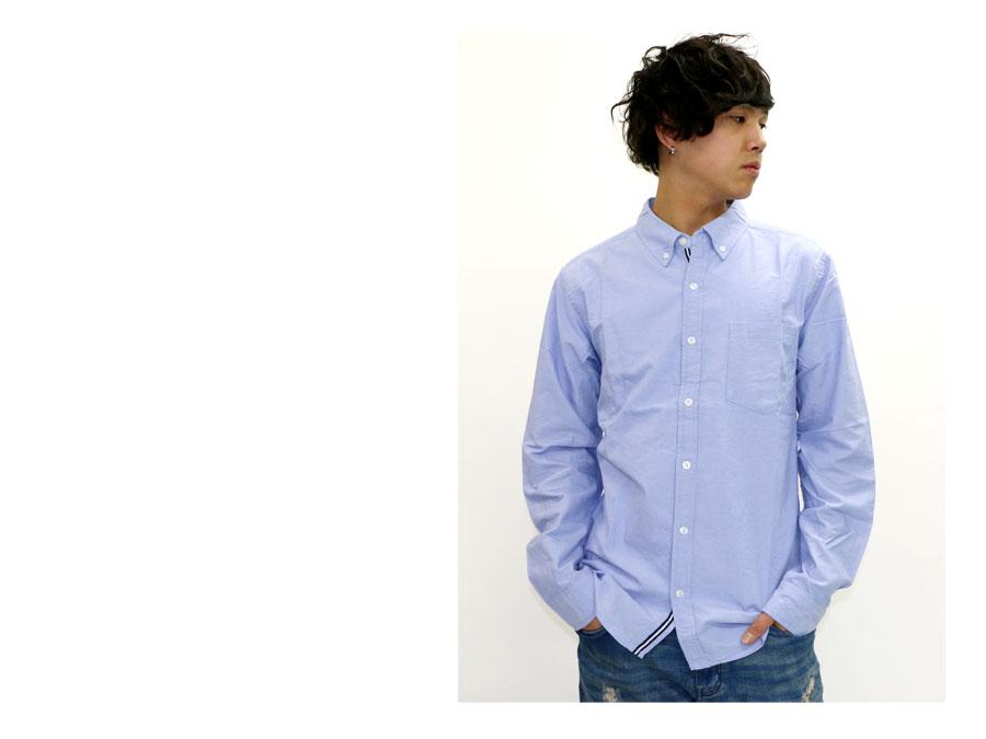 有牛津襯衫人按鈕降低襯衫長袖子帶子