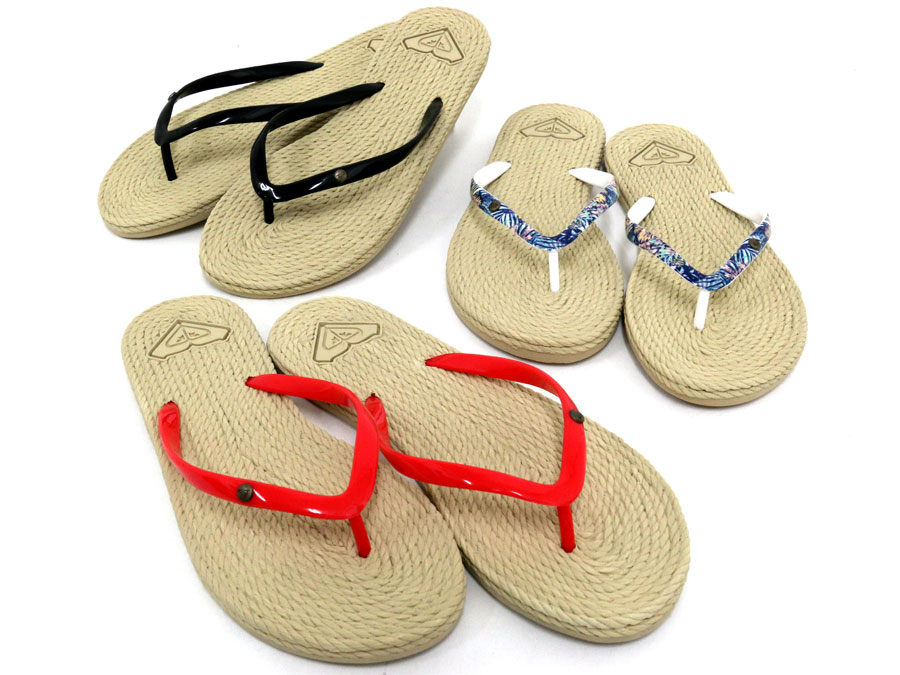 b12462d73d57 Simple sandals tong sandals present gift Marukawa which resort fashion has  a cute in Roxy beach sandal SOUTH BEACH B sun Lady s 歩 きやすいぺたんこ light ...