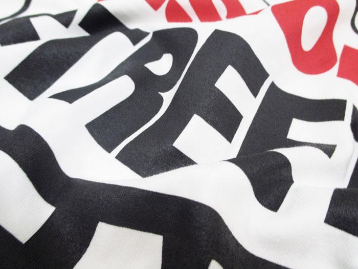 愿景街磨损 / 视觉街头穿皮大衣的标志打印中性短袖 T 恤街 / 滑冰 / 休闲 / 男装]