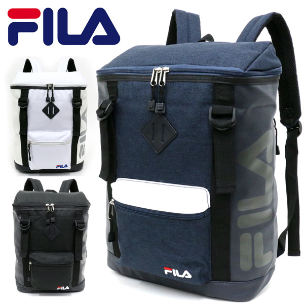 752216f68f30 MARUKAWA  Fila bag men BOX type white   black   navy