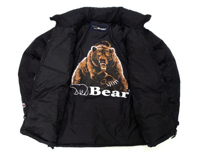 負,由美國 # ~ 可逆設計流行熊列印大東磨損的溫暖羽絨服