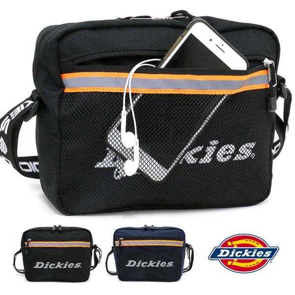 Dickies ショルダーバッグ メンズ 冬 リフレクティブテープ ブラック/ネイビー<br><br>
