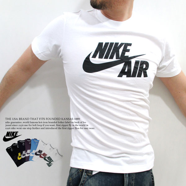 Back in stock! NIKE / Nike Sport #469774-peach (micro brushed) cotton-8  colors! NIKE AIR print short sleeve T shirt