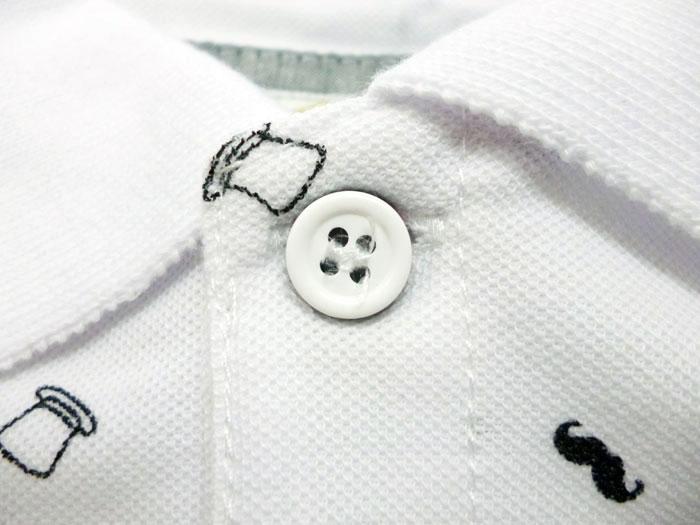 "SKKONE VINTAGE sukonevinteji~Cool Pass小鹿材料~全2色! 含肋条线!""帽子""×""胡须""总花纹短袖开领短袖衬衫[丸川便帽]"