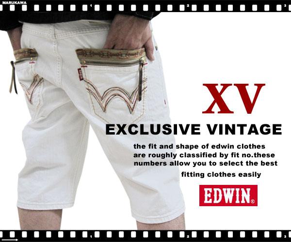 EDWIN XU Exclusive Vintage edoinuesutanjippuhafudenimupantsuhowaito