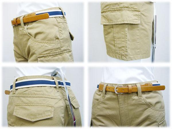 Belt with Chino cargo shorts