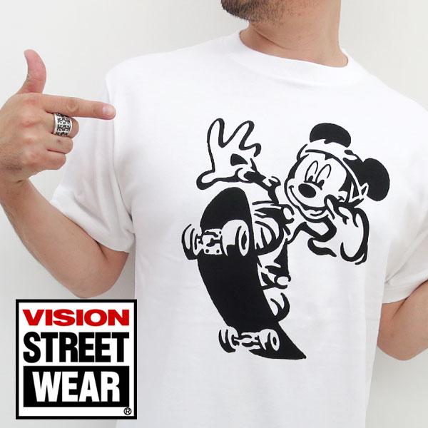 vishonsutoritouea&迪士尼米奇T恤人短袖协作印刷[丸川VISION Disney Mickey burandosutoritodabu]