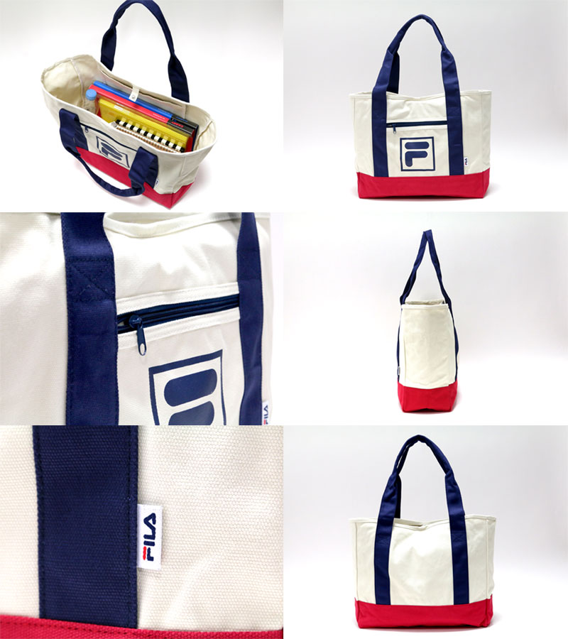 a7c770520 ... Tote bag FILA Fila Tote canvas campus sports sporty school school  popular men's ladies Street original ...
