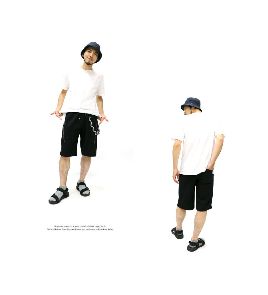 附带空气行走半裤子人波被褥编码的短裤人