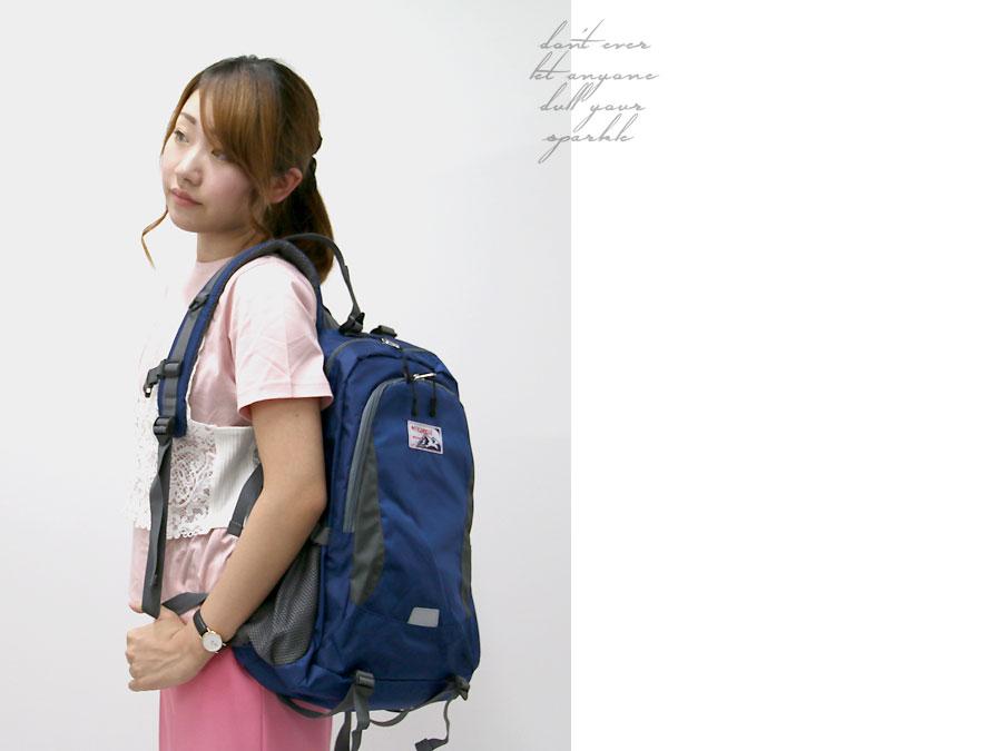 Kaepa帆布背包人分歧D帆布背包户外运动大容量通勤上学玩笑喜爱的旅行高中生包山女孩子书包2016SS