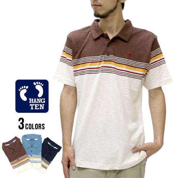 8d6c9484 Hang ten polo shirt men short sleeves slab panel horizontal stripe polo  shirt short sleeves ...