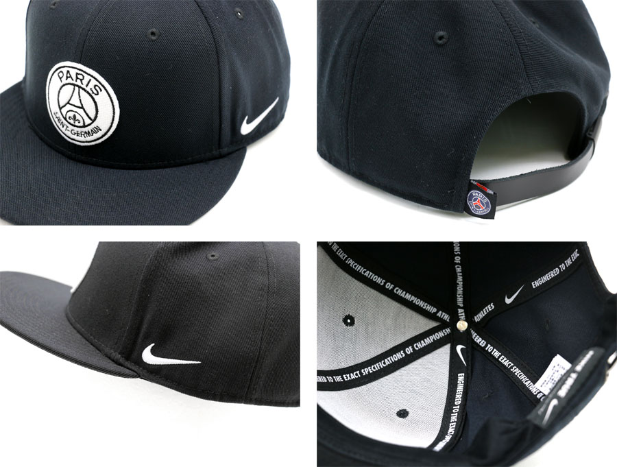 Nike NIKE Paris Saint-Germain true Cap Hat 3D embroidery Cap CAP mens  Womens unisex Cap Hat Cap popular men's Regal Al fashionable black logo Nike