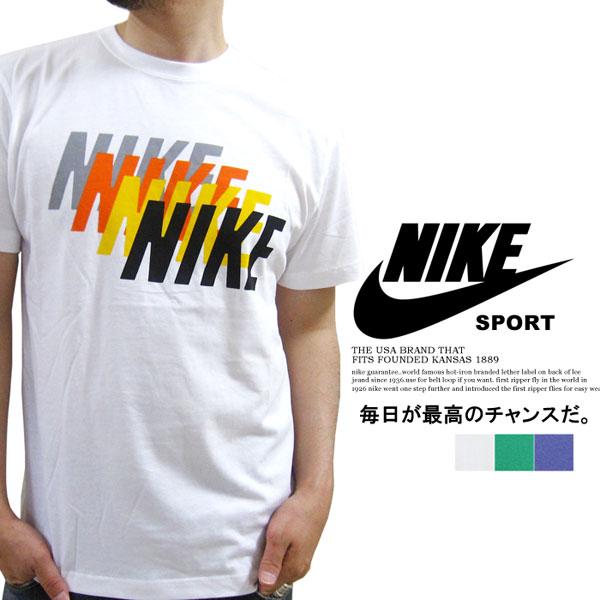 NIKE Nike ~ cotton ~ stack Kaze printed short sleeve t-shirt