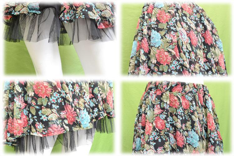 Sallow floral skirt