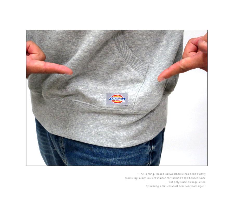 Dickies parka men pullover parka back raised logo print