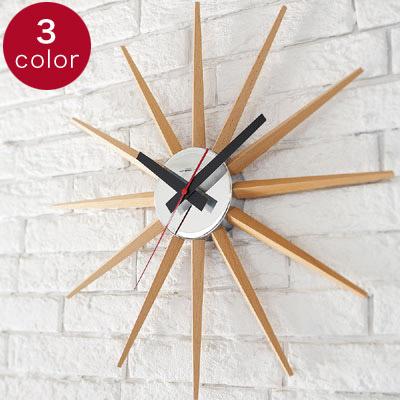 アトラス2 壁掛け時計 掛け時計 掛時計 おしゃれ 北欧 大きい サンバースト 無音 音がしない【送料無料】【あす楽】